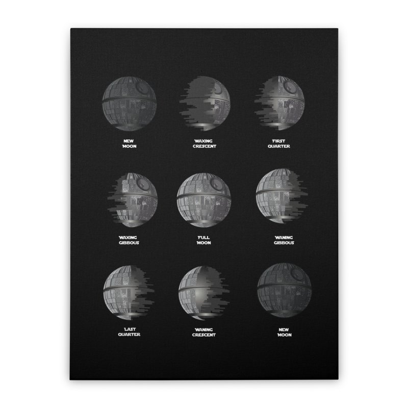 Dark Moon Phase Home Stretched Canvas by Tentimeskarma