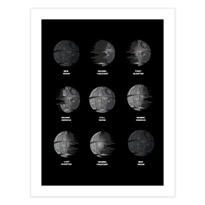 Dark Moon Phase Home Fine Art Print by Tentimeskarma