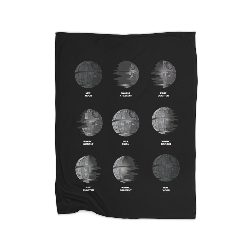 Dark Moon Phase Home Blanket by Tentimeskarma