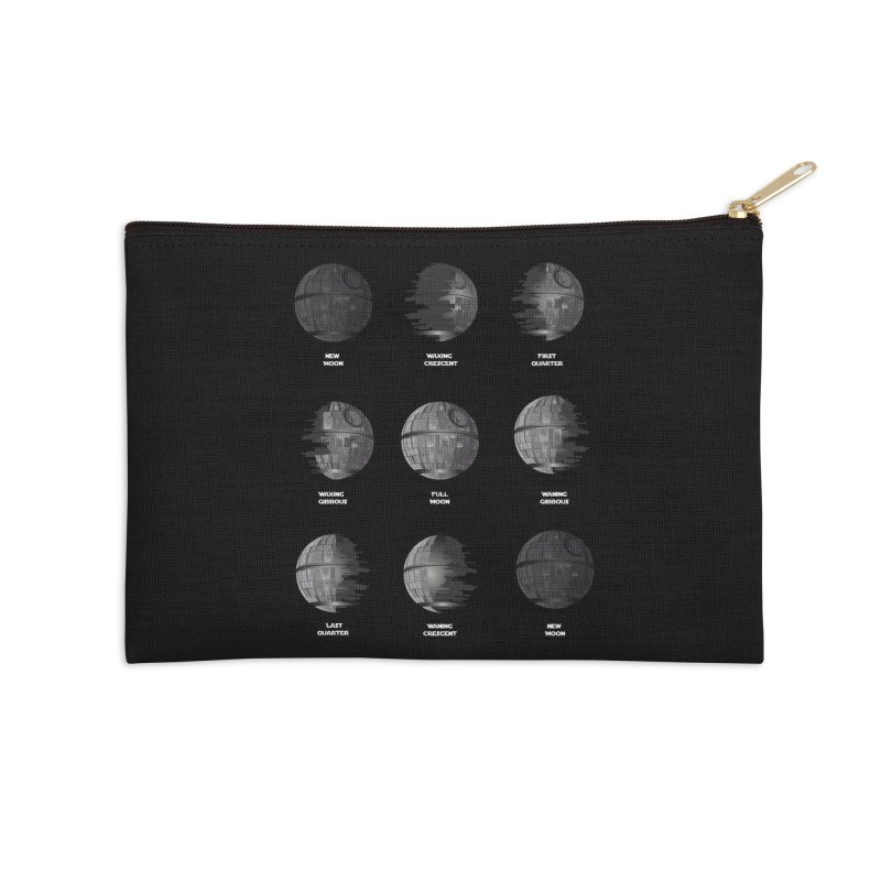 Dark Moon Phase Accessories Zip Pouch by Tentimeskarma