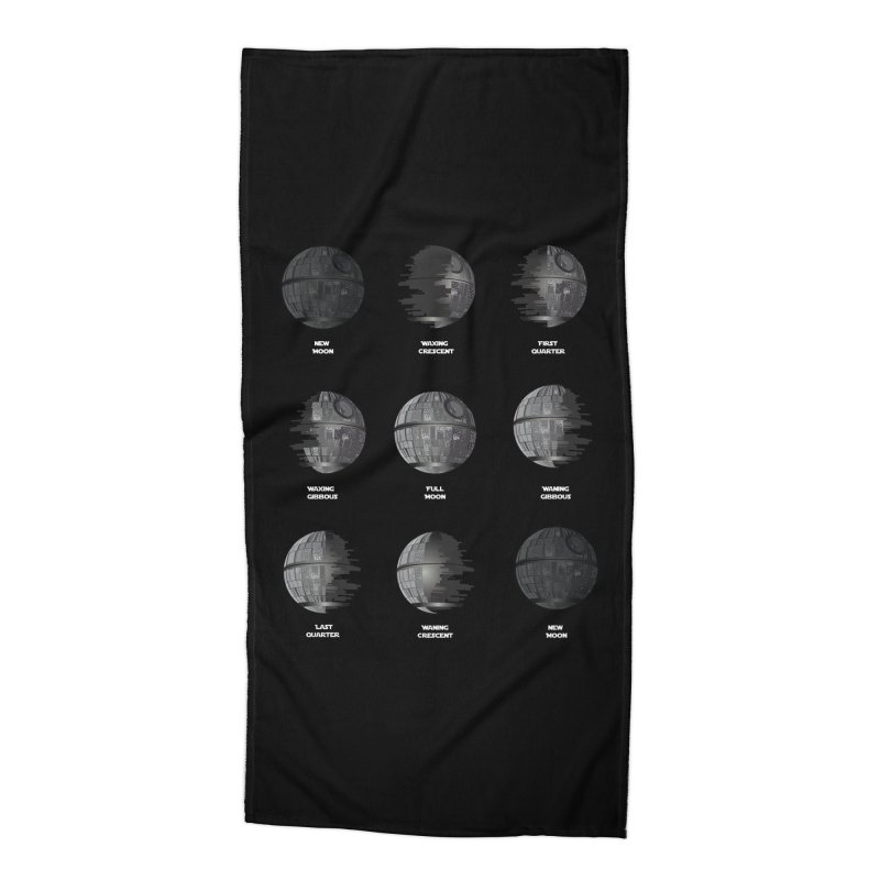 Dark Moon Phase Accessories Beach Towel by Tentimeskarma