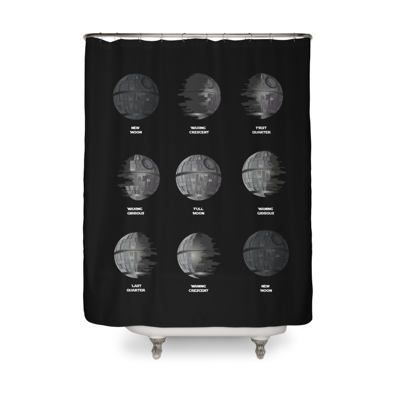 Dark Moon Phase Home Shower Curtain by Tentimeskarma