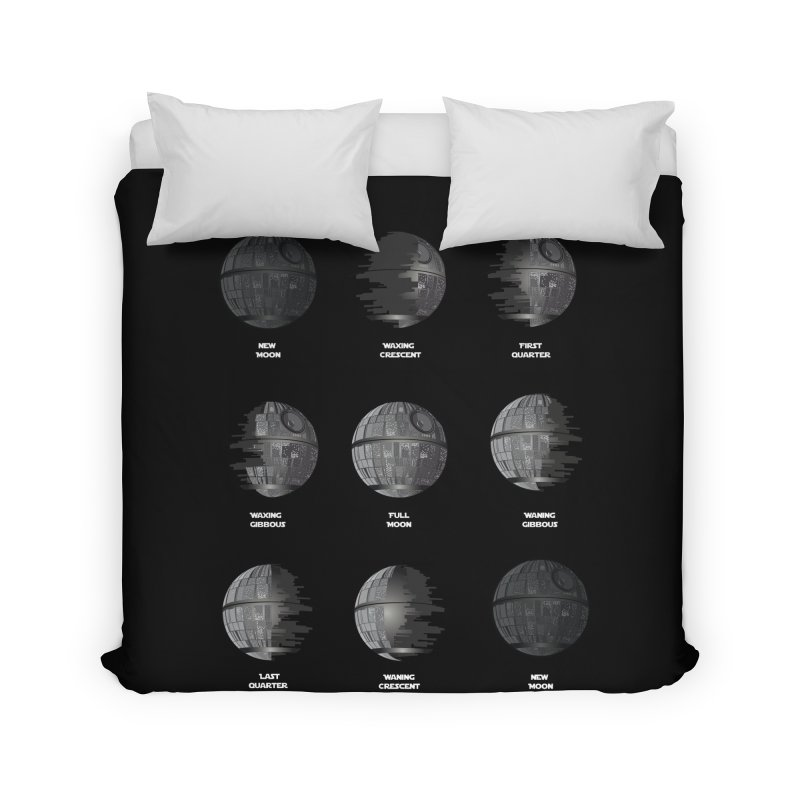 Dark Moon Phase Home Duvet by Tentimeskarma