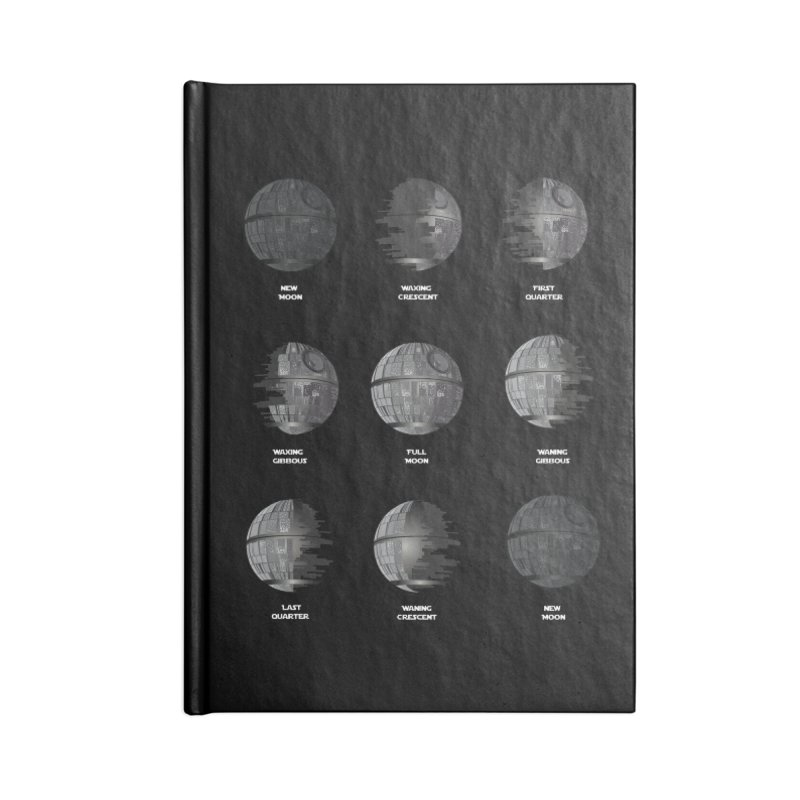 Dark Moon Phase Accessories Lined Journal Notebook by Tentimeskarma