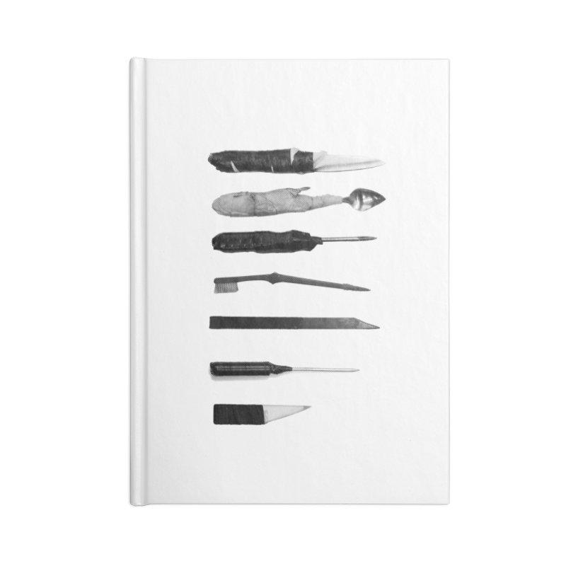 Prison Shanks Accessories Blank Journal Notebook by Tentimeskarma