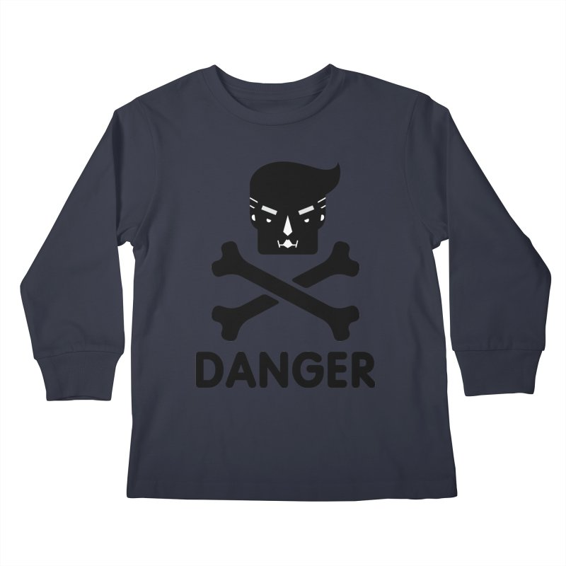 Trump Danger Sign Kids Longsleeve T-Shirt by Tentimeskarma