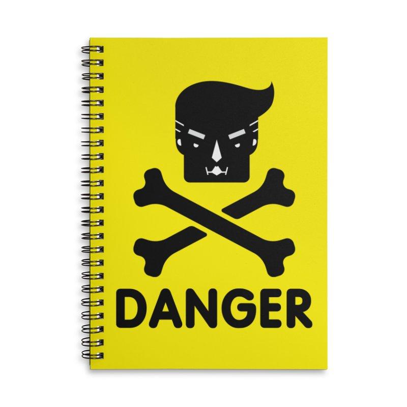 Trump Danger Sign Accessories Notebook by Tentimeskarma