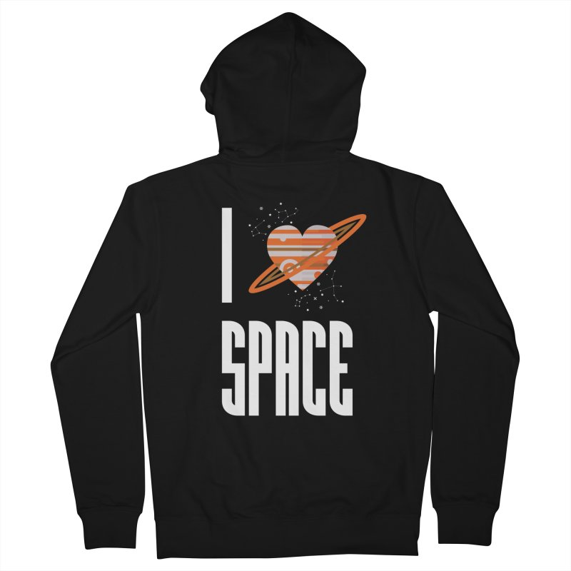 I Heart Space Men's Zip-Up Hoody by Tentimeskarma