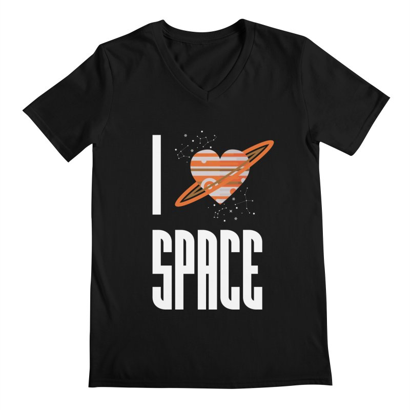 I Heart Space Men's V-Neck by Tentimeskarma
