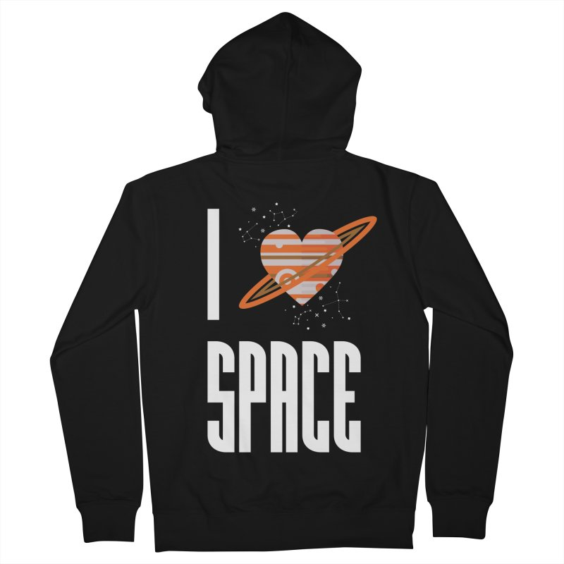 I Heart Space Men's French Terry Zip-Up Hoody by Tentimeskarma
