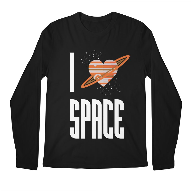 I Heart Space Men's Regular Longsleeve T-Shirt by Tentimeskarma