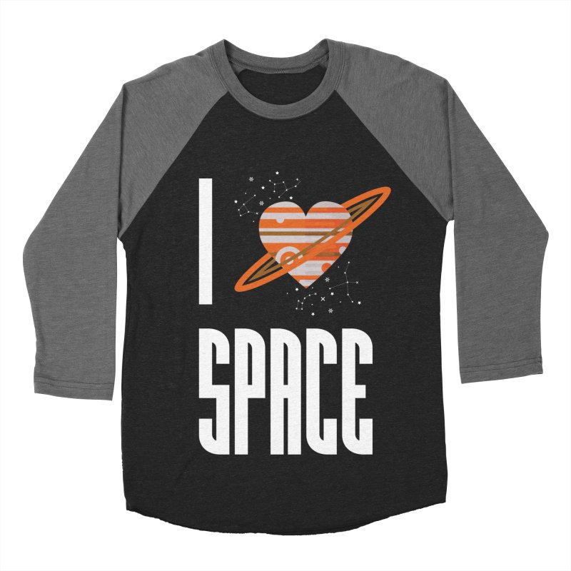 I Heart Space Men's Baseball Triblend Longsleeve T-Shirt by Tentimeskarma