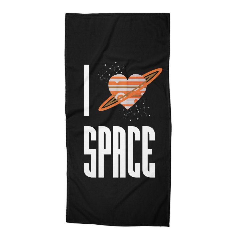 I Heart Space Accessories Beach Towel by Tentimeskarma