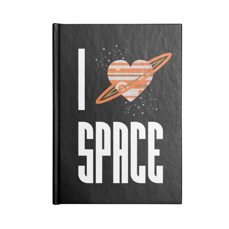 I Heart Space Accessories Lined Journal Notebook by Tentimeskarma