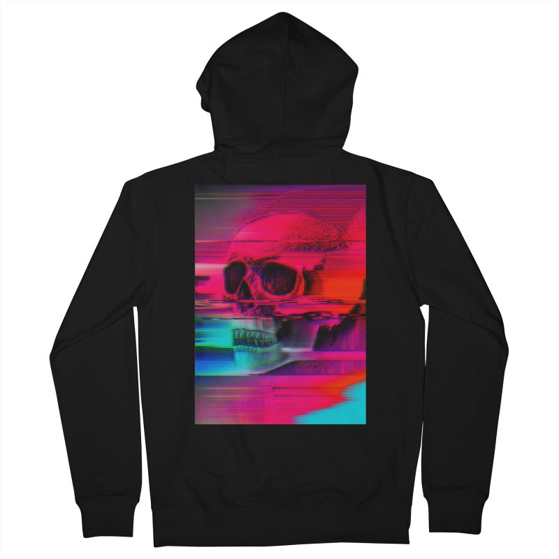 Mortality Glitch Men's French Terry Zip-Up Hoody by Tentimeskarma