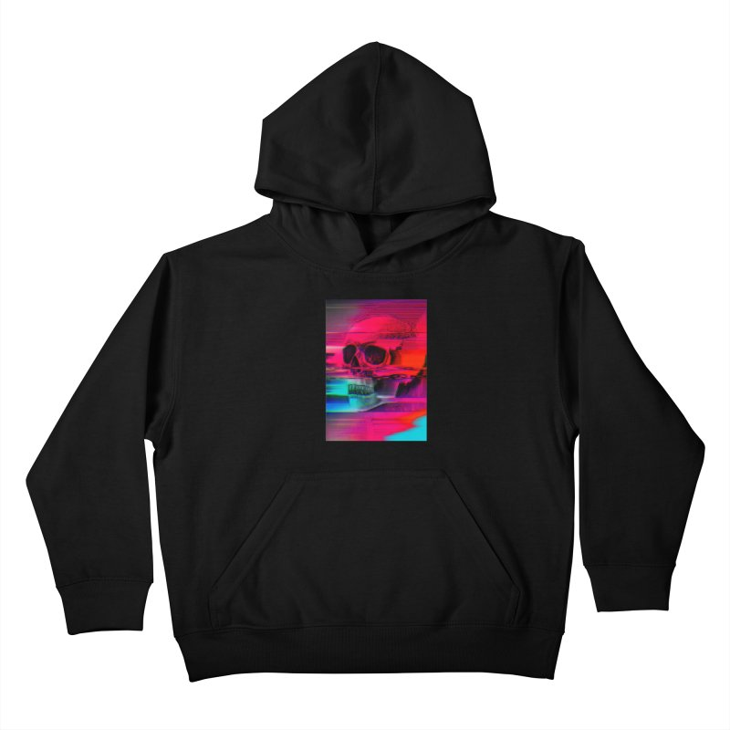Mortality Glitch Kids Pullover Hoody by Tentimeskarma