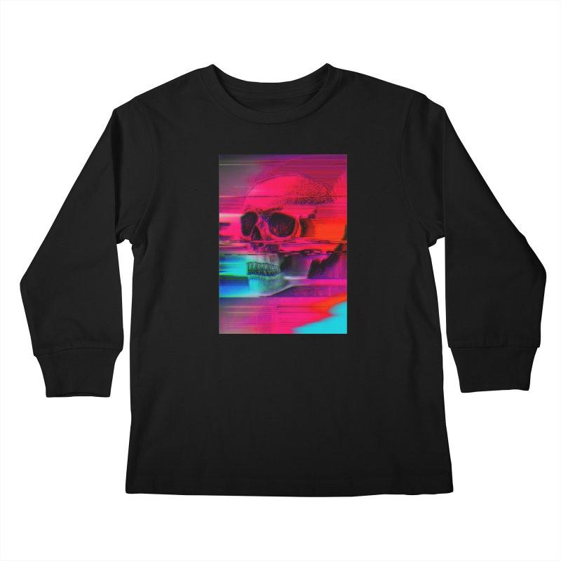 Mortality Glitch Kids Longsleeve T-Shirt by Tentimeskarma