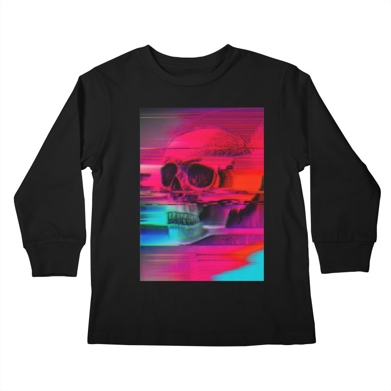 Mortality Glitch Kids Longsleeve T-Shirt by Tentimeskarma