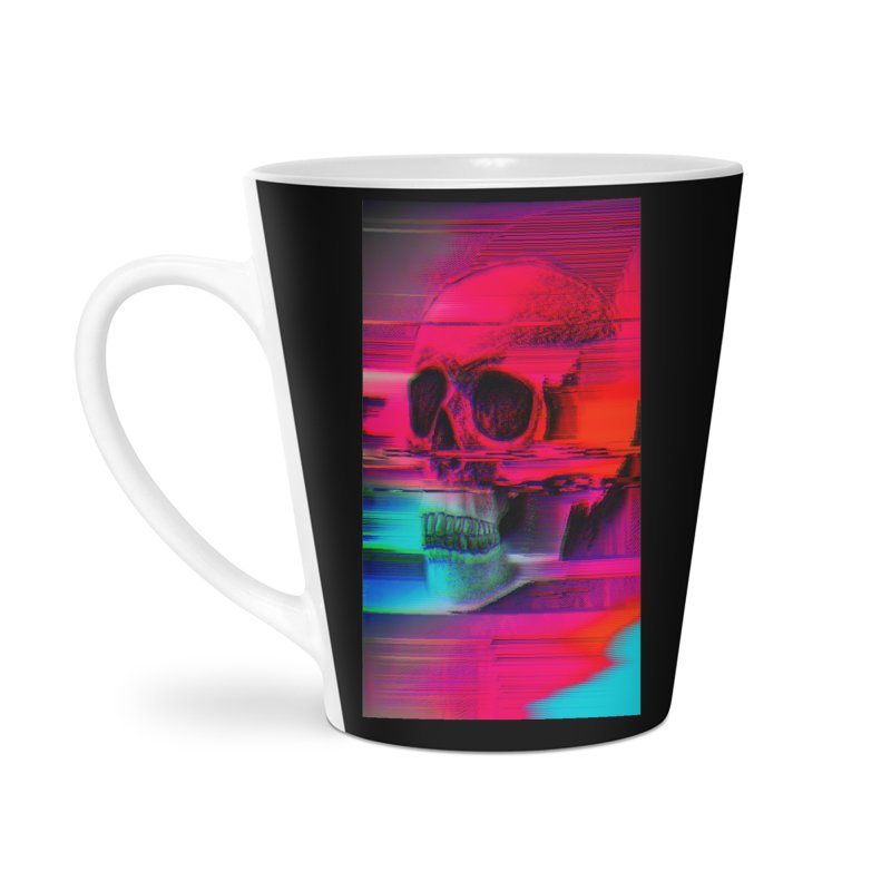 Mortality Glitch Accessories Latte Mug by Tentimeskarma