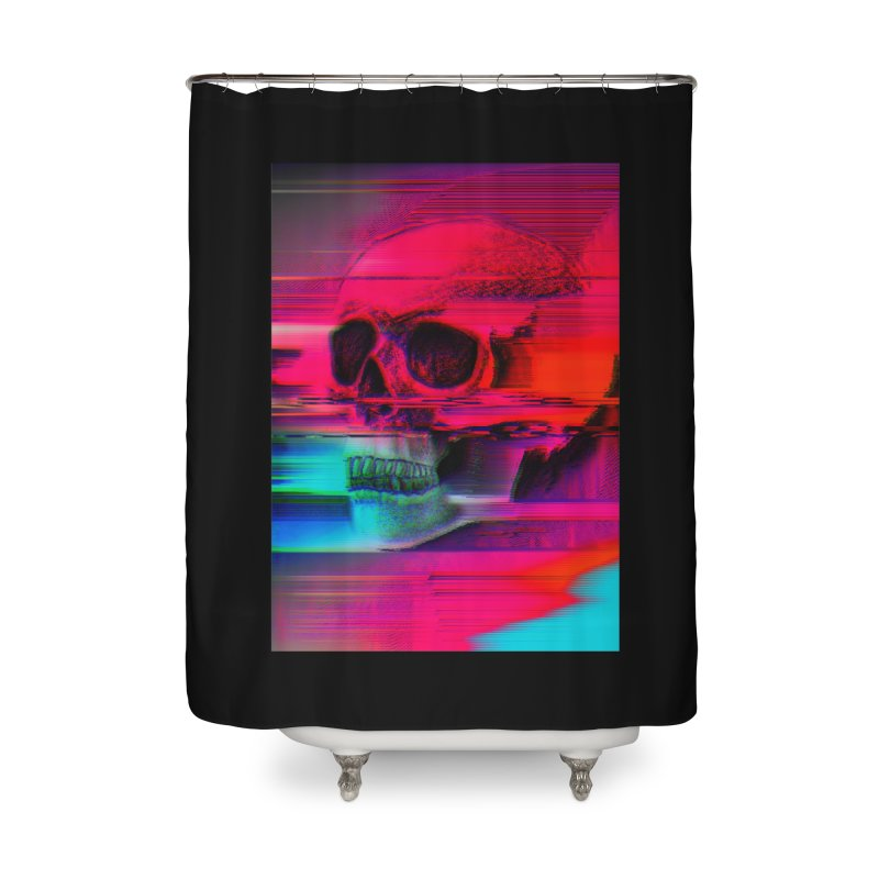 Mortality Glitch Home Shower Curtain by Tentimeskarma