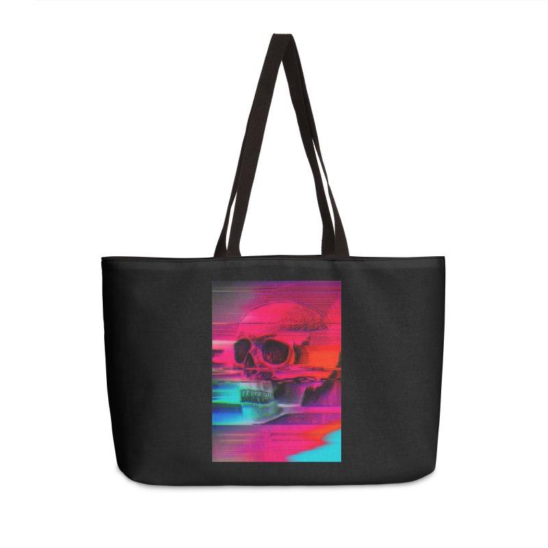 Mortality Glitch Accessories Weekender Bag Bag by Tentimeskarma