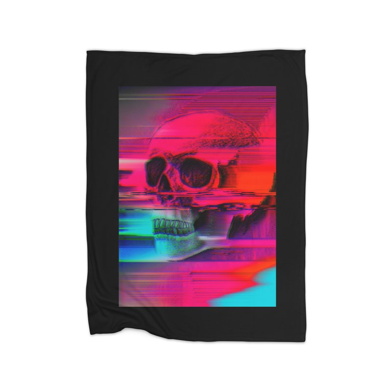 Mortality Glitch Home Fleece Blanket Blanket by Tentimeskarma