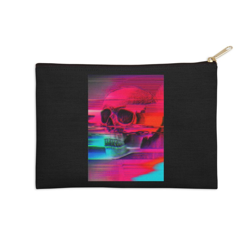 Mortality Glitch Accessories Zip Pouch by Tentimeskarma