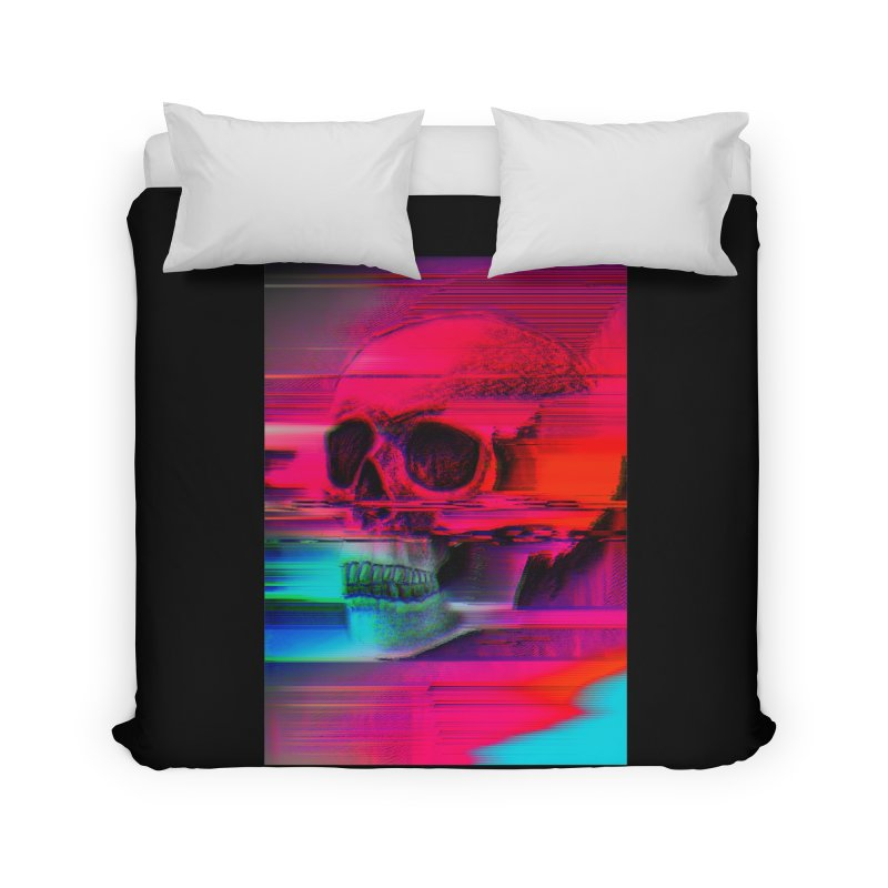 Mortality Glitch Home Duvet by Tentimeskarma