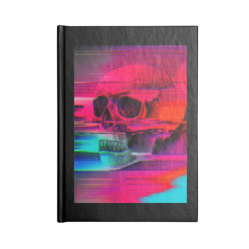 Mortality Glitch Accessories Lined Journal Notebook by Tentimeskarma