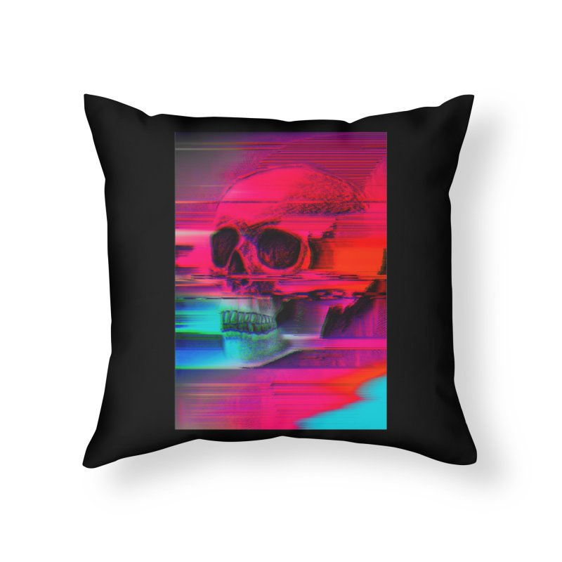 Mortality Glitch Home Throw Pillow by Tentimeskarma