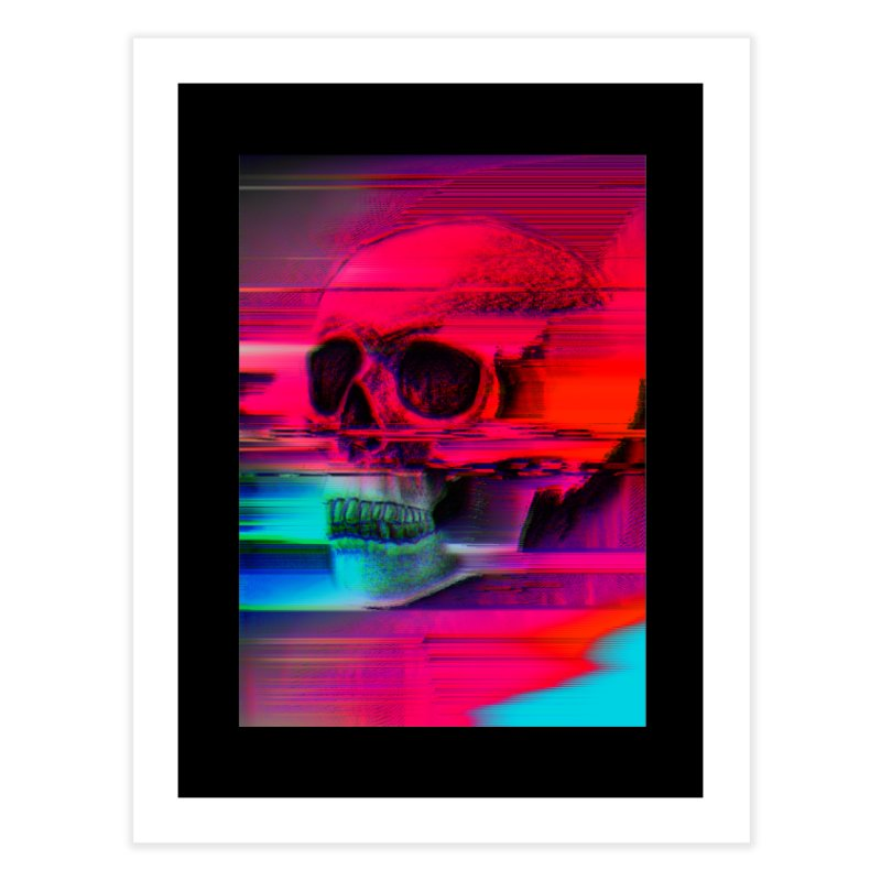 Mortality Glitch Home Fine Art Print by Tentimeskarma