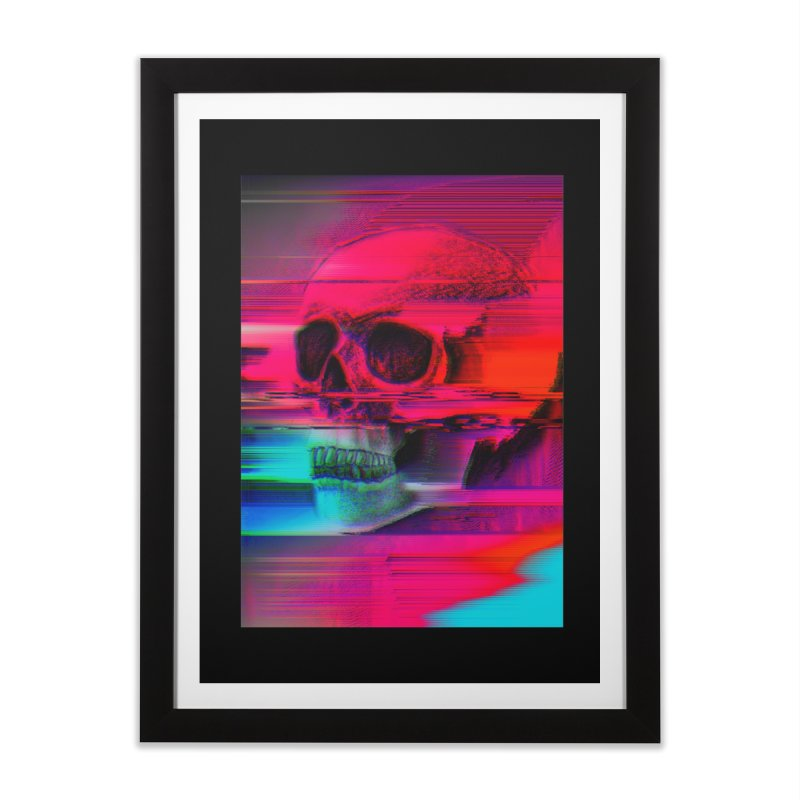 Mortality Glitch Home Framed Fine Art Print by Tentimeskarma