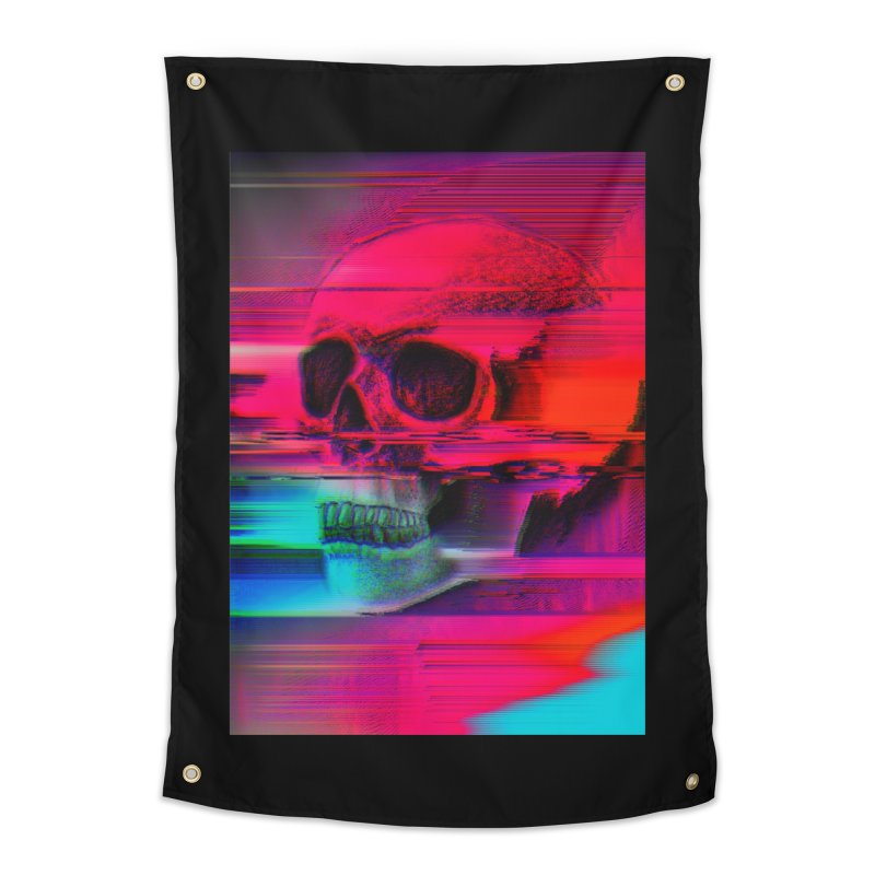 Mortality Glitch Home Tapestry by Tentimeskarma