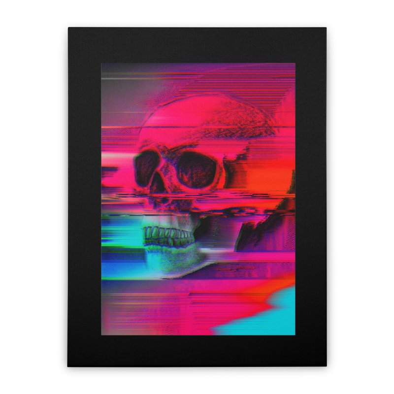 Mortality Glitch Home Stretched Canvas by Tentimeskarma