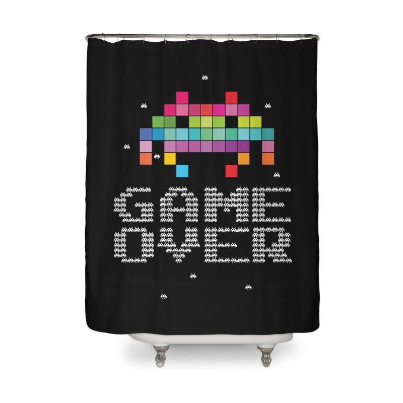 We Come In Peace Home Shower Curtain by Tentimeskarma