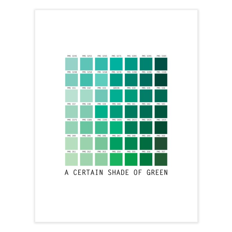 A Certain Shade of Green Home Fine Art Print by Tentimeskarma