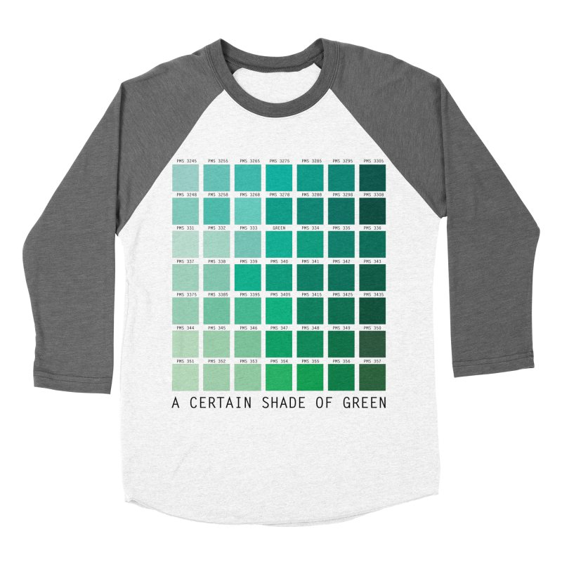 A Certain Shade of Green Men's Baseball Triblend Longsleeve T-Shirt by Tentimeskarma