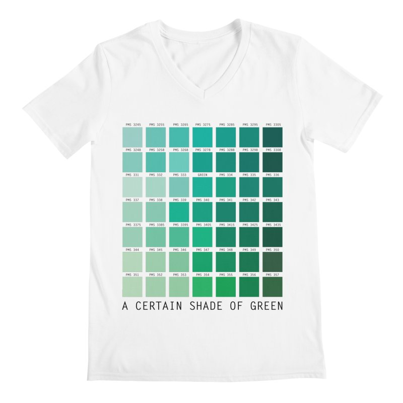 A Certain Shade of Green Men's Regular V-Neck by Tentimeskarma