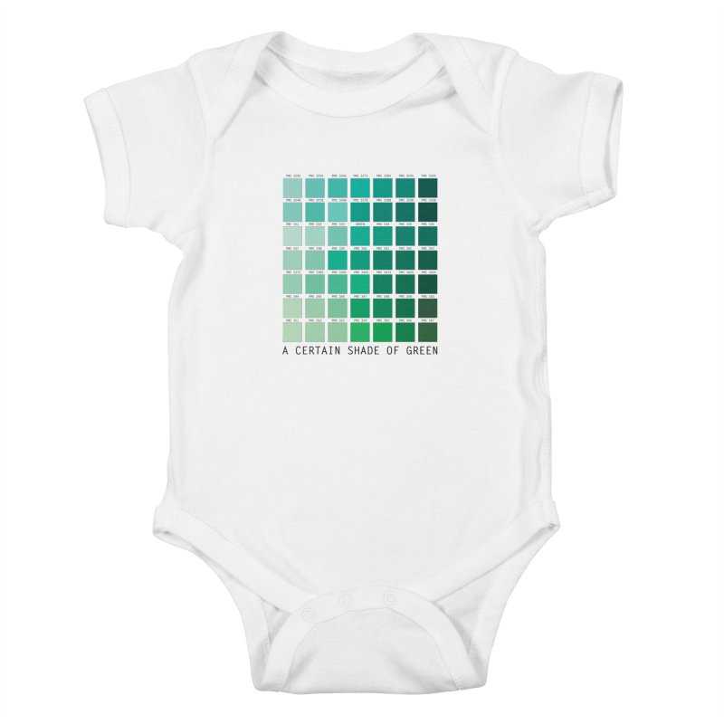 A Certain Shade of Green Kids Baby Bodysuit by Tentimeskarma