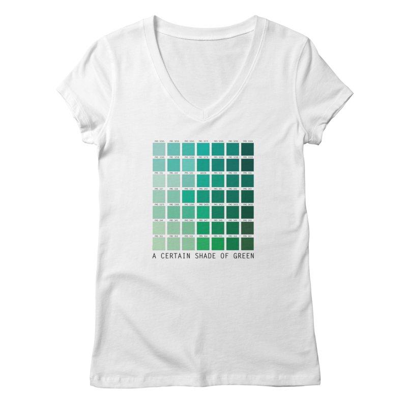 A Certain Shade of Green Women's V-Neck by Tentimeskarma