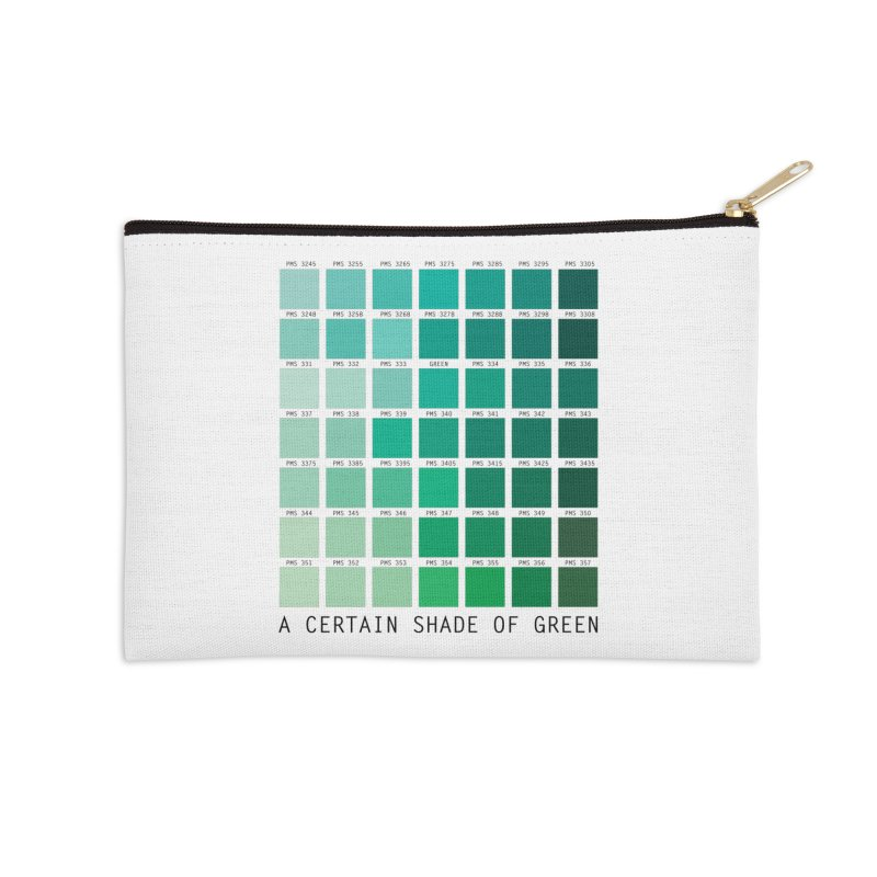 A Certain Shade of Green Accessories Zip Pouch by Tentimeskarma
