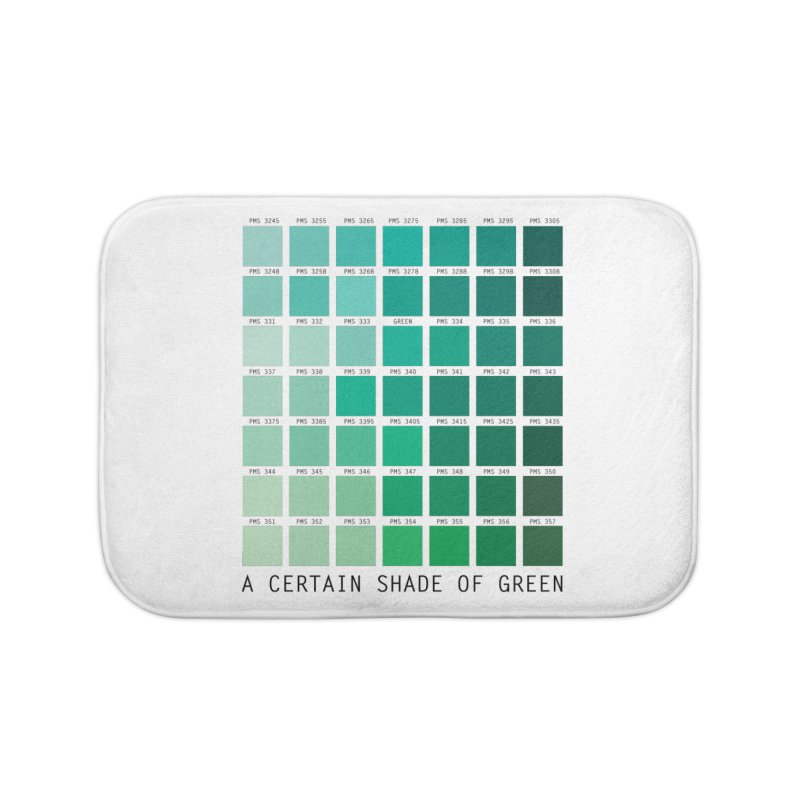 A Certain Shade of Green Home Bath Mat by Tentimeskarma