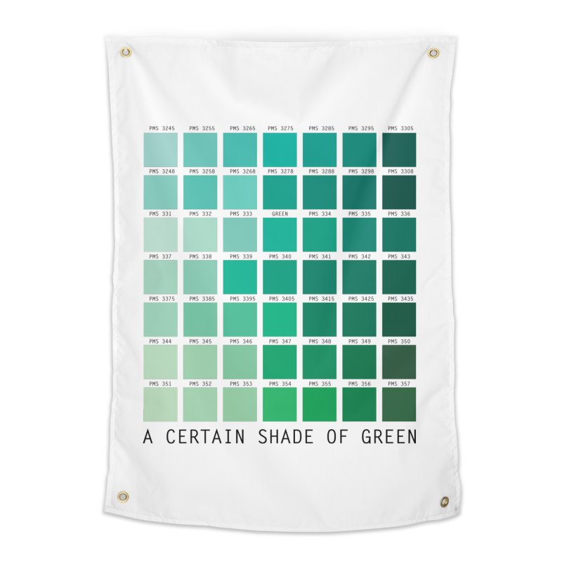 A Certain Shade of Green Home Tapestry by Tentimeskarma