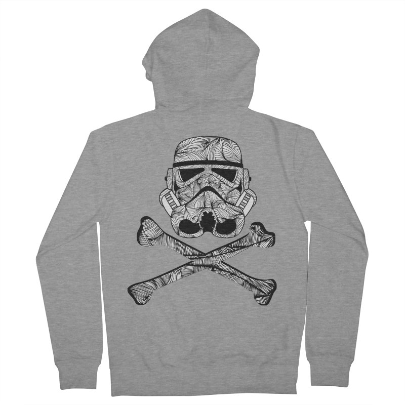 Skulltrooper Men's French Terry Zip-Up Hoody by Tentimeskarma