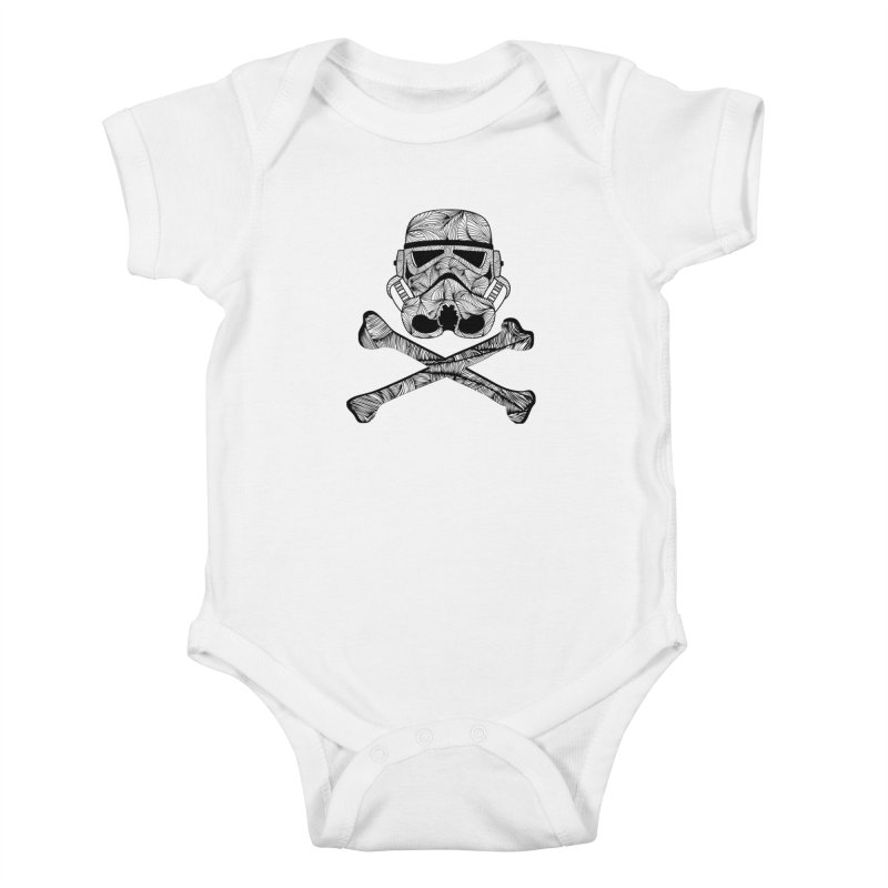 Skulltrooper Kids Baby Bodysuit by Tentimeskarma
