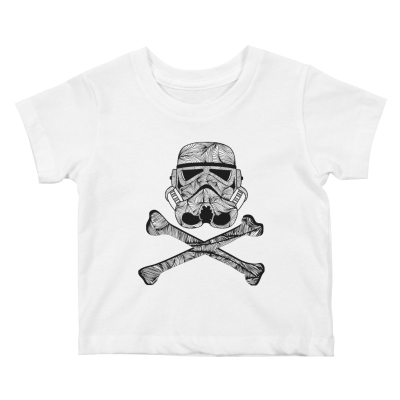 Skulltrooper Kids Baby T-Shirt by Tentimeskarma