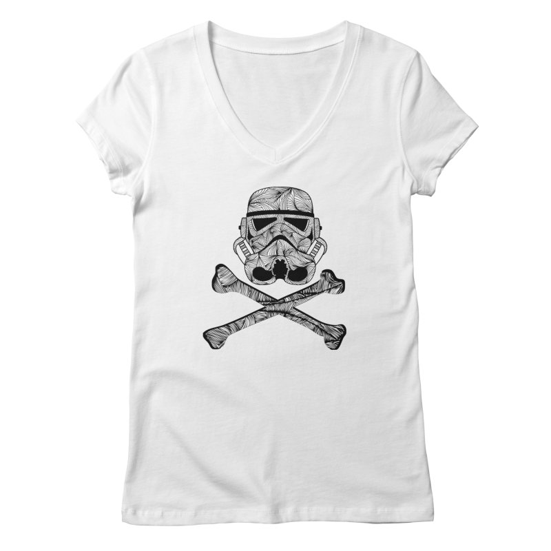 Skulltrooper Women's V-Neck by Tentimeskarma