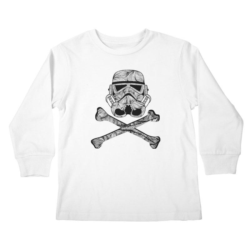 Skulltrooper Kids Longsleeve T-Shirt by Tentimeskarma