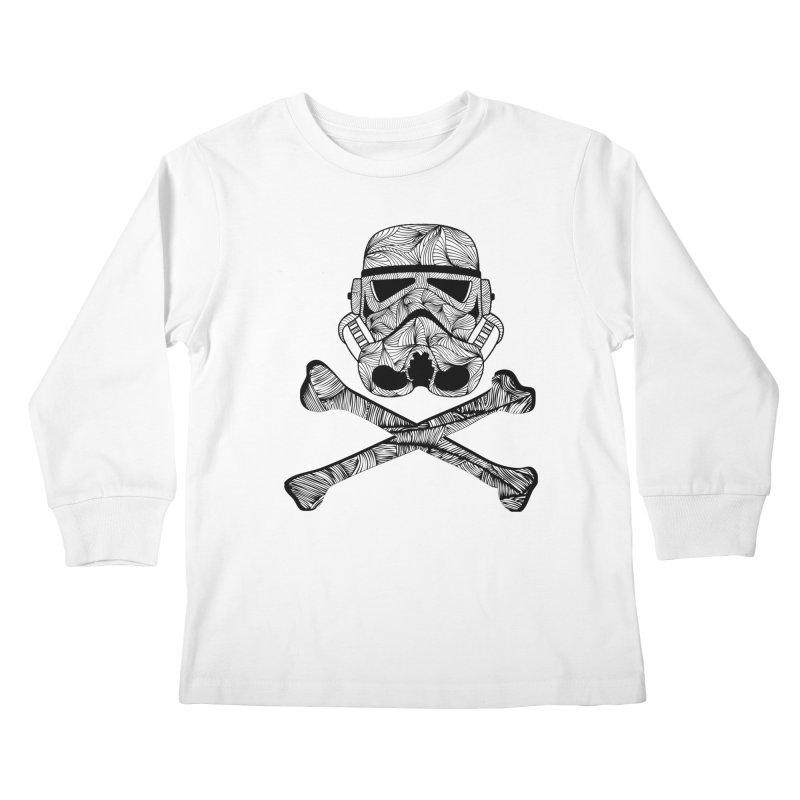 Skulltrooper Kids Longsleeve T-Shirt by Tentimeskarma