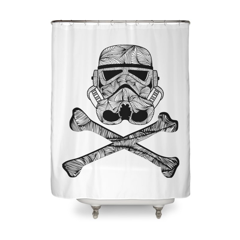 Skulltrooper Home Shower Curtain by Tentimeskarma